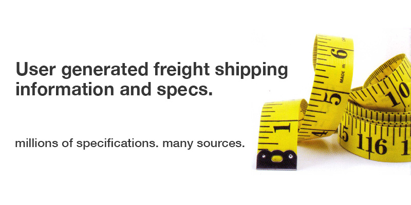 ±User generated freight shipping informtion and sp